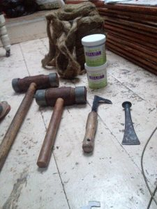 Caulking Wooden boat Tools required