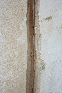 render crack repair cut groove