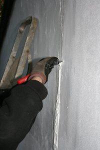 render crack repair tool flush