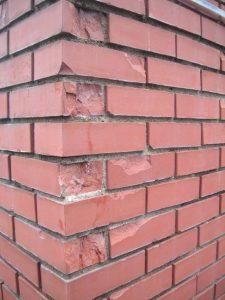 freeze thaw damage in brick