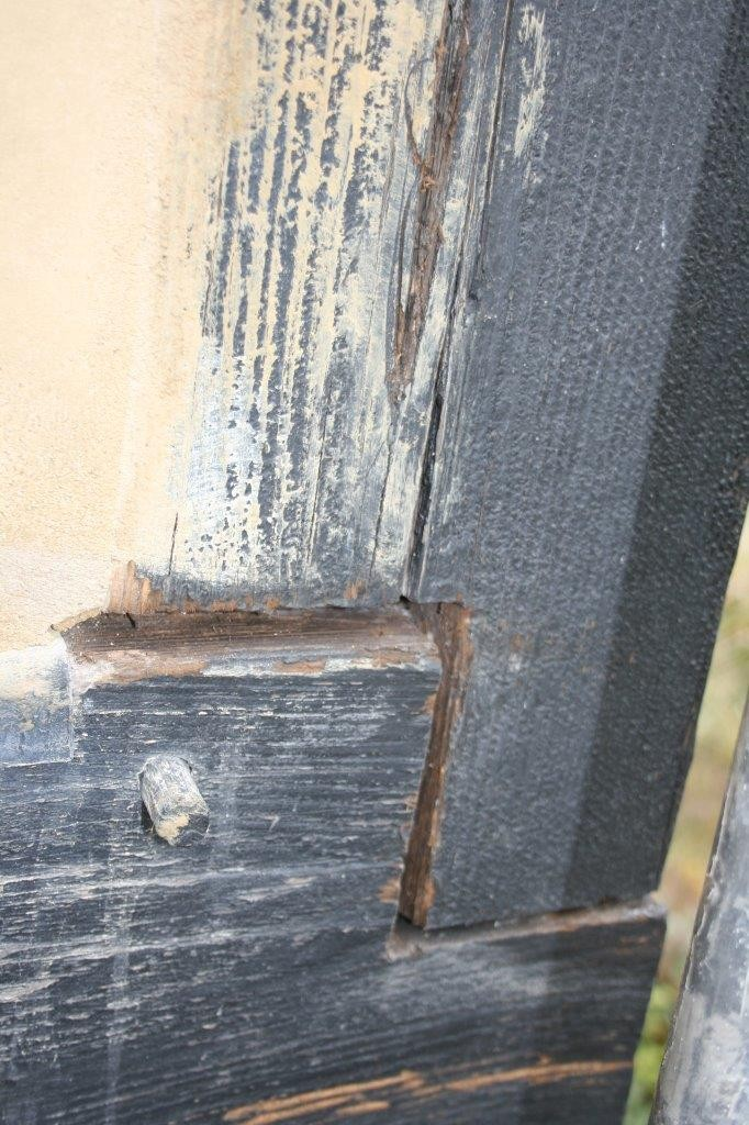 remove failed Seal Timber House Frame first