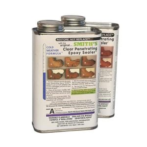 cpes clear penetrating epoxy sealer restores primes hardens wood cold weather formula