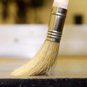 apply varnish firm brush viscous varnish technique