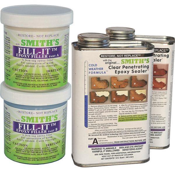 rotten wood repair kit epoxy resins fill-it cpes