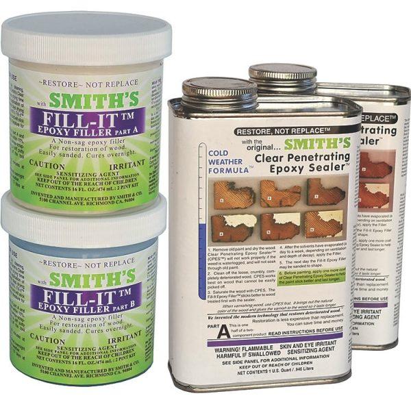 cpes fill-it filler rotten wood repair kit