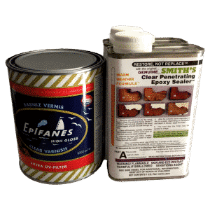 Permanent Exterior Varnishing Kit – Varnish Primer and Epifanes