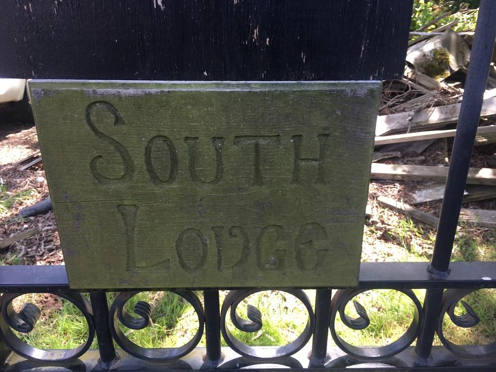 exterior wood sign restoration start front