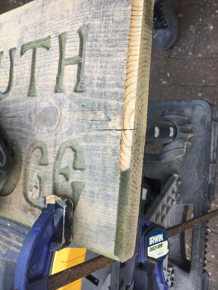 exterior wood sign restoration refinishing edges