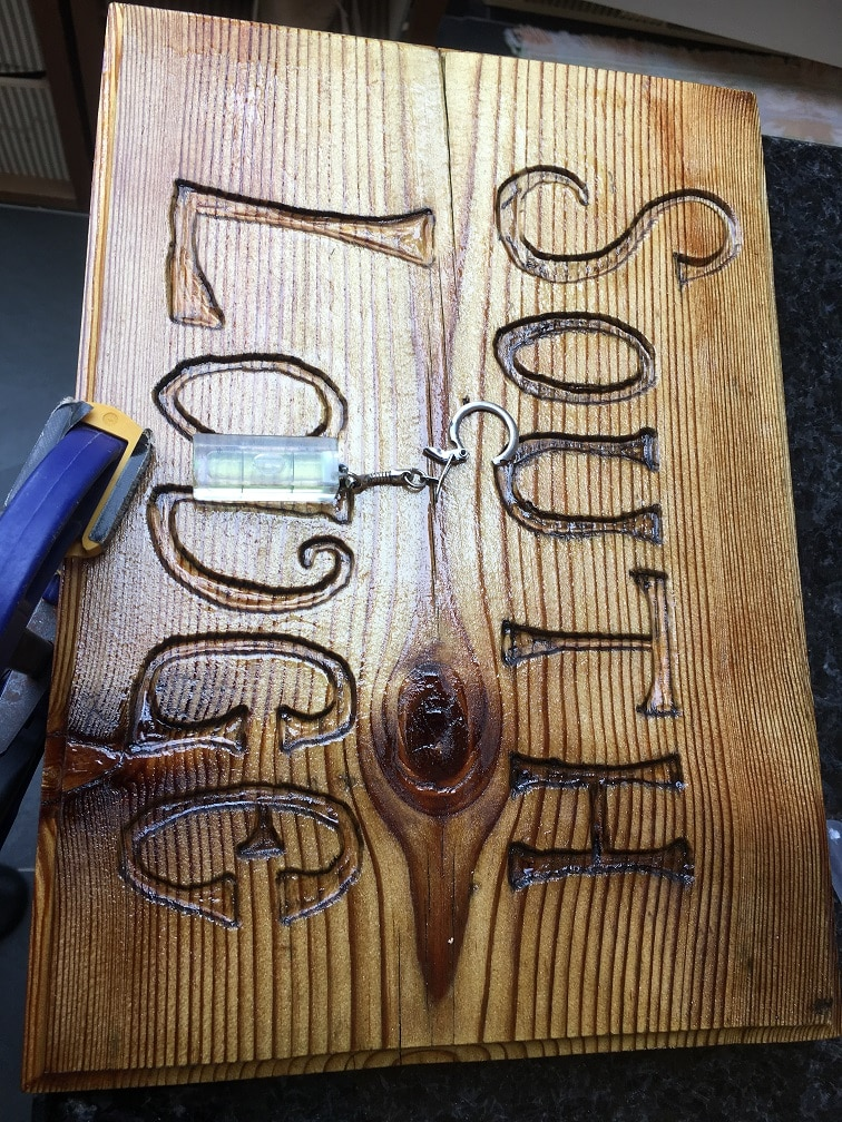 exterior wood sign restoration coated with cpes clear penetrating epoxy resin