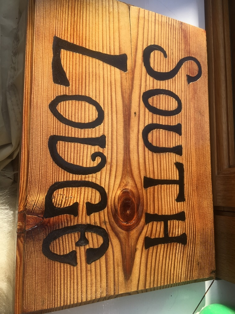exterior wood sign ready for topcoats and uv protection
